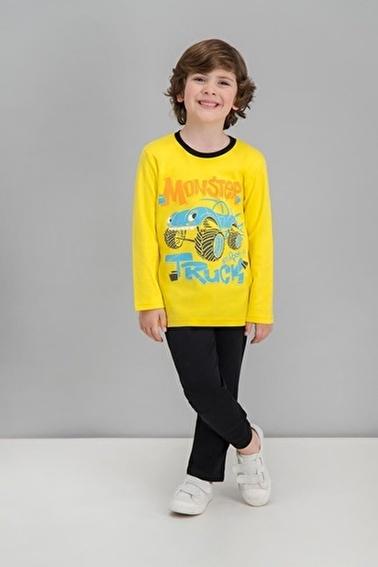 Roly Poly   Hardal Erkek Çocuk Pijama Takımı Sarı